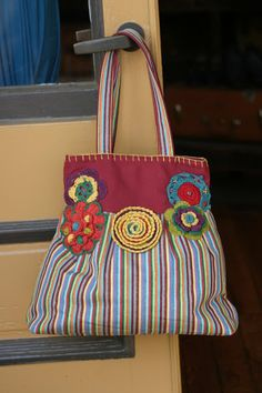 3c2a7e6e0 Summer Striped Bag Handmade Handbags, Handmade Bags, Recycled Leather,  Patchwork Bags, Zipper