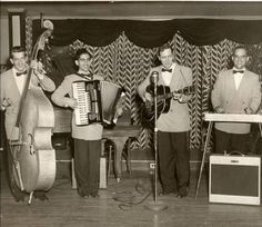 """Bill Haley  His Comets record """"Rock Around The Clock"""" at The Pythian Temple in April 1954 • photo of original: davidcnimick on Flickr"""