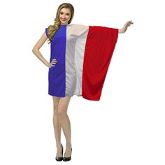 8cd40e742 The Dragons Den Ladies French Flag Fancy Dress St Denis Day France Costume