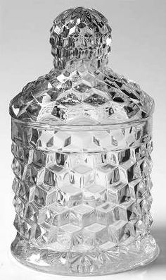 Fostoria American Clear (Stem Crushed Fruit with Lid