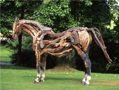 driftwood horses....what fantastic work!   Misti, can you make this for me? lol