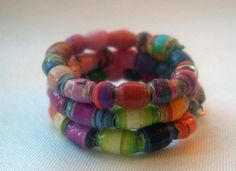 ♡♧ Colorful Micro #Seed Paper Bead Wrap Finger Ring  -- Size 4.5 by Curbed... #handmade http://etsy.me/2fKRVeS