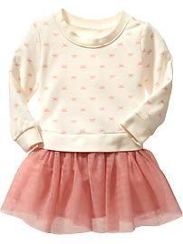 Fleece Tulle-Skirt Dresses for Baby