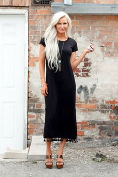 Dress - Marlee Black Maxi Dress Modest Dress www.piperstreetshop.com