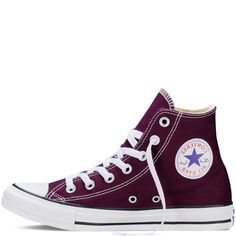 Converse - Men s Chuck Taylor All Star HI Seasonal Sneakers - Black  Cherry White - 1439d9e545