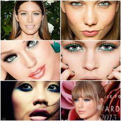 Summer trend...Blue-green eye makeup