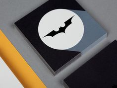 Bats leaves so fast he needs a calling card.