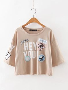 2016 Women Cute Colored Stamp Decorative Short T-shirt Camisas Femininas O-neck Short Sleeve T-shirt Cotton Brown Tops Plus Size