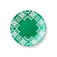 Add dramatic style to your tablescape with the elegant Truman Salad Plate from B by Brandie. The Truman collection's intricate, lattice pattern is mesmerizing against white porcelain and brings a bold touch to a modern table. Green Dinnerware, Porcelain Dinnerware, Green Plates, Green Bedding, Interior Design Photos, Fruit In Season, Salad Plates, Home Decor Inspiration, Dinner Plates