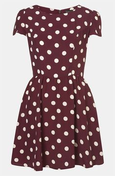 Topshop Polka Dot Skater Dress available at #Nordstrom - so cuuute