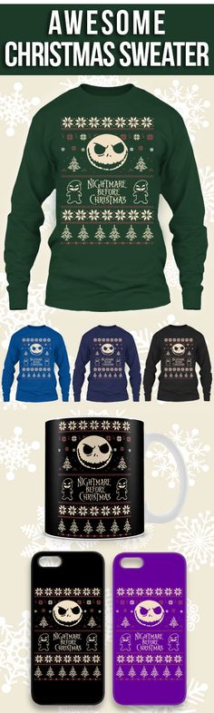 Nightmare Before Christmas Ugly Christmas Sweater! Click The Image To Buy It Now or Tag Someone You Want To Buy This For. #swimming