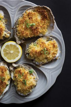 Oyster Gratin with Horseradish and Parmesan. #seafood #recipes