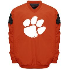 Men's Franchise Club Clemson Tigers Focus Windshell Pullover, Size: Medium, Orange