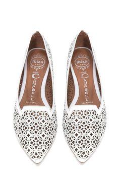 Jeffrey Campbell Shoes SONNET-CUT Flats in White Celtic Knot Cut White Flat  Shoes 642004a849e