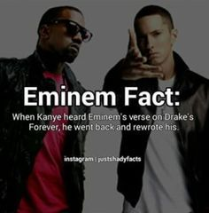 And Kanye says he's great... nah eminem is.