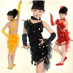 71621c150993 Performance Dancewear Pretty Spandex And Tulle With Sequins Latin Dance  Dress For Children(More Colors)