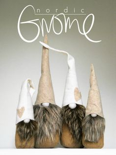 CHRISTMAS GNOME, Swedish house tomte Pair Christmas Tomten by NordicGnomeShop