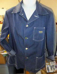 Vintage OshKosh B'Gosh The Guys casual lightweight denim jacket sz 38 UNION MADE