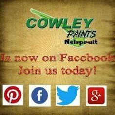 Follow us today Cowley Paints Nelspruit.