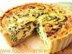 IOLMobile: Recipe: Spinach and Feta Quiche Spinach Feta Quiche, Spinach Tart, Creamed Spinach, Frittata, Quiche Tart Recipe, Quiche Recipes, Spinach Recipes, Light Recipes, Wine Recipes