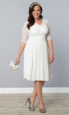 Article about choosing a plus size wedding gown for your body shape