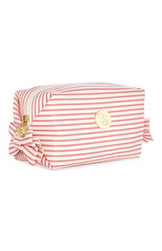 Primark - Candy Stripe Make Up Bag Primark, Trousse Make Up, Cute Pencil Case, Novelty Bags, Candy Stripes, Cosmetic Pouch, Pyjamas, School Supplies, Ferrari