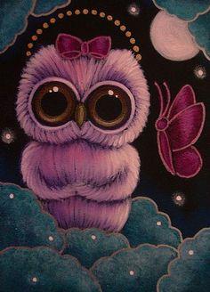 Art: BABY OWL COMM. by Artist Cyra R. Cancel