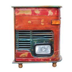alcohol cabinet Bar Furniture, Retro Furniture, Furniture Design, Alcohol Cabinet, Home Bar Designs, Truck Art, Pub Bar, Mini Trucks, Cool Bars