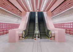 Estação de metrô em Singapura.