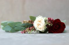 Blush and Merlot Head Wreath // Celebration Flair