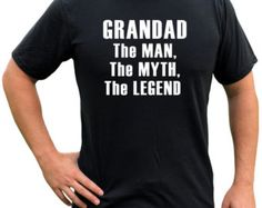 GRANDAD The Man, The MYTH, The legend Tee triblend short sleeve grandfather shirt fathers day gift christmas gift gift for him Papa, grandpa