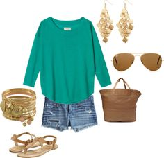 Green summer!, created by ecwrenn on Polyvore