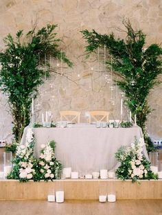 18 Fancy Wedding Decoration Ideas with Hanging Candles greenery sweetheart table wedding decoration Sweetheart Table Backdrop, Head Table Backdrop, Backdrop Ideas, Hanging Candles, Decoration Table, Head Table Decor, Wedding Centerpieces, Wedding Wall Decorations, Decor Wedding