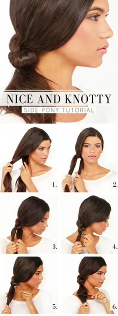 Nice and Knotty Side Pony Tutorial