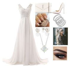 """Untitled #12"" by amcracea-1 ❤ liked on Polyvore featuring Yves Saint Laurent, Christian Louboutin, Cole Haan and Blue Nile"