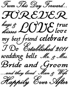 Wedding Subway Art Printable