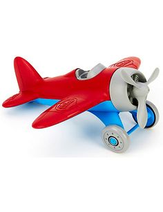 Green Toys' airplane is made from recycled milk jugs.