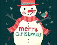 Christmas card design by Tjarda Borsboom