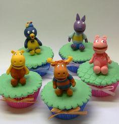 BACKYARDIGANS!!! - cupcakes by Ana_Fuji, via Flickr