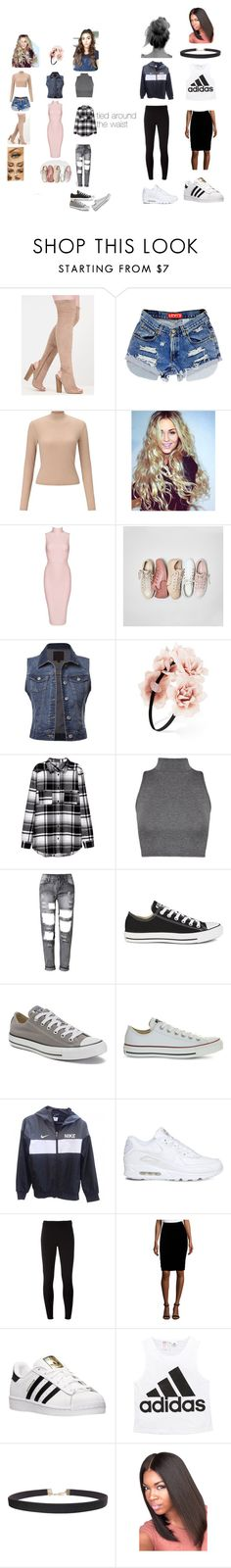 """""""outfit"""" by colonkairee on Polyvore featuring Miss Selfridge, Posh Girl, Converse, Forever 21, WearAll, WithChic, NIKE, Nanette Lepore, adidas and Humble Chic"""
