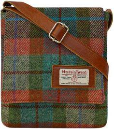Harris Tweed Annie Bag blue colourway