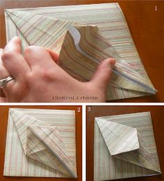 Charcoal and Crayons: Folding a Paper Lily Origami Lily, Book Folding, Mail Art, Paper Design, Easter Crafts, Paper Flowers, Diy And Crafts, Crayons, Projects To Try