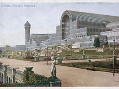 An poster sized print, approx mm) (other products available) - The Crystal Palace and grounds, looking from the south east - Image supplied by Mary Evans Prints Online - poster sized print mm) made in the UK South London, Old London, Crystal Palace, Hyde Park, Fine Art Prints, Framed Prints, Framed Wall, London History, Local History
