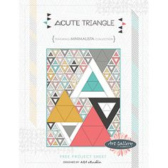 Free quilt patterns ... love the triangles!