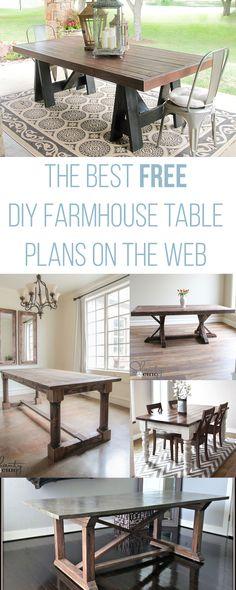 DIY farmhouse table tutorials