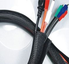 c9924e043f49 Hook & Loop brand Braided Flexo Cable Wrap Hook & Loop Sleeving Audio, Cable  Management
