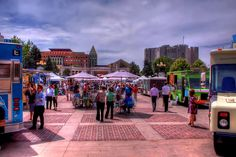 Denver Food Truck Day occurs twice a week on Tuesday & Thursday.  Come down and enjoy some awesome street food!  http://www.denverphotoblog.com