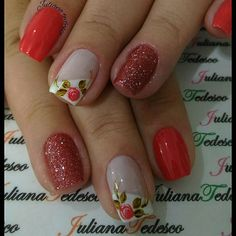 #nails #nails Pretty Nail Art, Beautiful Nail Art, Nail Tutorials, Holiday Nails, Nail Arts, Nail Designs, Nail Polish, Hair Beauty, Mango