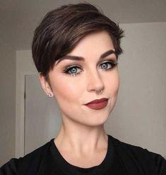 36 Latest Short Hair Trends for Winter 2017 – 2018 - Short Hair Styles Short Pixie Haircuts, Pixie Hairstyles, Trendy Haircuts, 2018 Haircuts, Brown Hairstyles, Ladies Short Hairstyles, Pixie Haircut Styles, Hairstyles Haircuts, Short Hair Trends