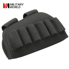 Airsoft Rifle Shotgun Buttstock Ammo Bag Military Tactical Hunting 6 Shells Nylon Bullet Carrier Holsters Pouches Accessories